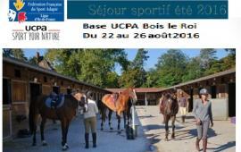 Séjour Sportif UCPA été 2016 à Bois le Roi (77)