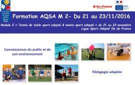 Formation AQSA M2 - Tennis sport adapté & TT SA