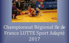 Championnat régional de lutte sport adapté