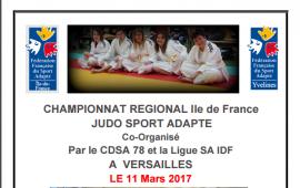 Championnat régional judo sport adapté