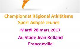 Championnat Régional d'athlétisme SAJ