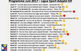 Programme Juin 2017 - Ligue Sport Adapté IDF