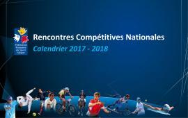Calendrier championnats de France sport adapté