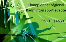 Championnat régional de badminton sport adapté
