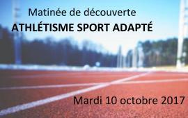 Matinée de découverte - Athlétisme Sport Adapté