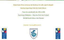 Ouverture créneau - Hockey en salle sport adapté