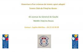 Ouverture créneau - Tennis sport adapté