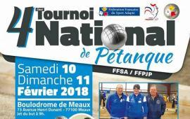 4ème Tournoi National de Pétanque FFSA/FFPJP