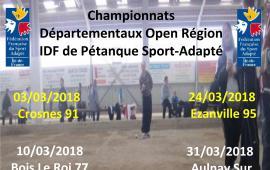 Championnats départementaux open région pétanque