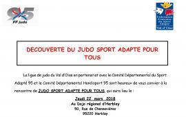 Journée de découverte - Judo sport adapté 95