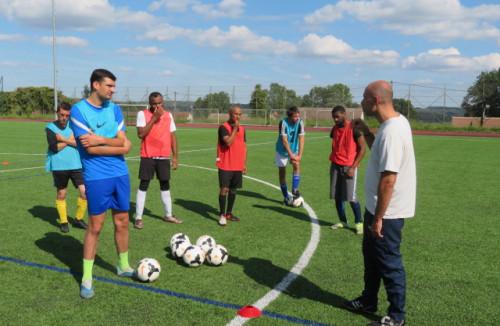 Avec la sélection régionale de foot